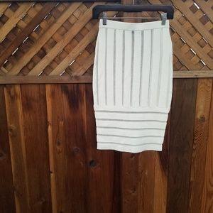 ⚡3 for $12⚡NWOT Nasty Gal Sheer Mesh Stripe Skirt